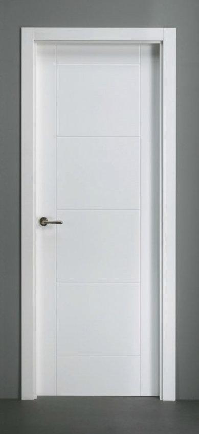 Puerta lacada en block serie mara decoraciones mabel - Puertas lacadas blancas ...