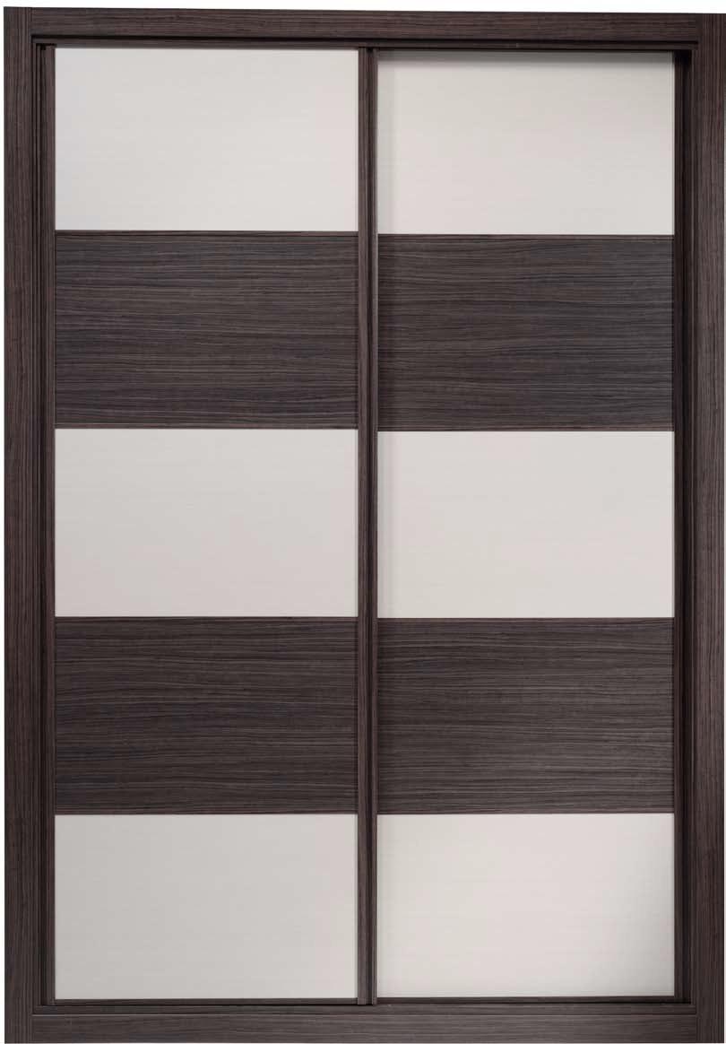 Frente de armario combinado roble ceniza y blanco decoraciones mabel - Frentes de armario precios ...