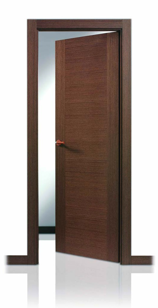 Puerta serie lisa mh wengu uniforme decoraciones mabel for Puertas color wengue