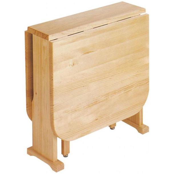 Mesa extensible de pino macizo decoraciones mabel for Mesas de camping plegables baratas