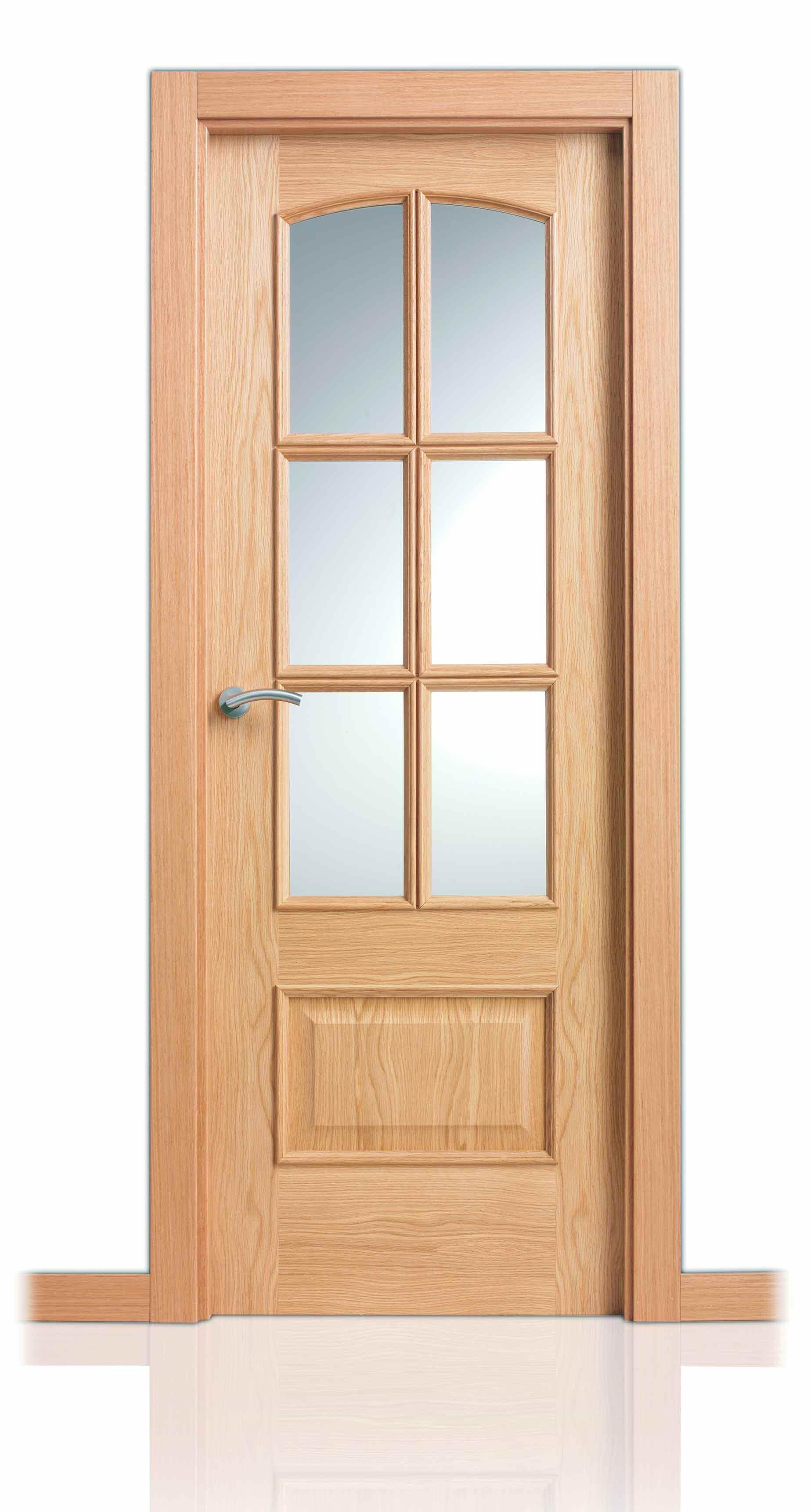 Puerta serie clasica curva tm decoraciones mabel for Catalogo de puertas de madera para interiores
