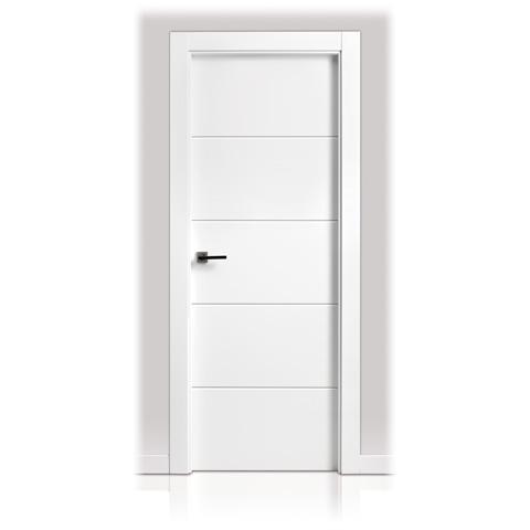 Puerta lacada en block san rafael serie 9005 for Puertas en block precios