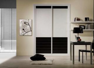 Frente de armario Combinado Melamina Negra y Olimpo