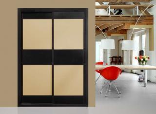 Frente de armario Combinado Melamina Textil y Negro