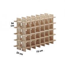 Botellero modular de pino macizo Rioja 24