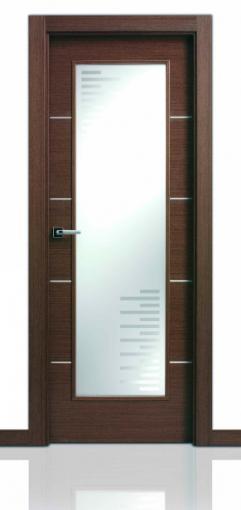 Puerta San Rafael AL4 Con incrustacion de aluminio 1v